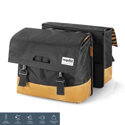 Sacoche arrière double Urban Proof 40 L Recyclé Gris/Beige