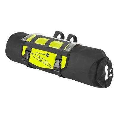Sacoche de guidon avec porte carte waterproof 3.6 L 20 x 15 x 12 cm Noir/Jaune Fluo