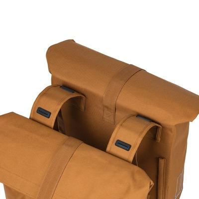 Sacoche double arrière vélo Basil City 28/32 L 30 x 18 x 49 cm Marron Camel
