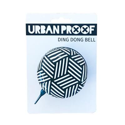 Sonnette Urban Proof Ding Dong 6,5 cm Rayure Bleu/Blanc