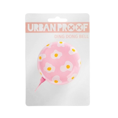 Sonnette Urban Proof Ding Dong 6,5 cm Œuf Rose