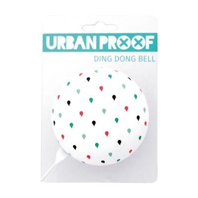 Sonnette Urban Proof Ding Dong 8 cm Goutte Blanc