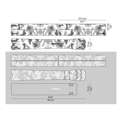 Sticker de protection de cadre Dyedbro Camo Noir