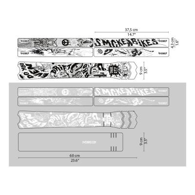 Sticker de protection de cadre Dyedbro Fluor Noir