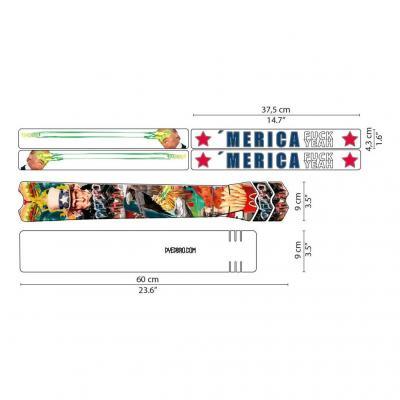 Sticker de protection de cadre Dyedbro Merica F. Yeah