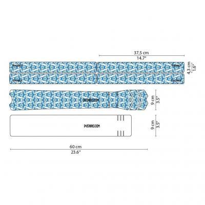 Sticker de protection de cadre Dyedbro Turtles Bleu