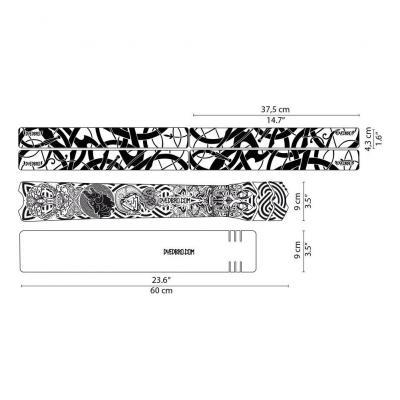 Sticker de protection de cadre Dyedbro Viking Noir
