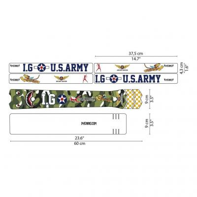 Sticker de protection de cadre Dyedbro Warhawk P40 Boca