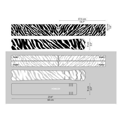 Sticker de protection de cadre Dyedbro Zebra Blanc