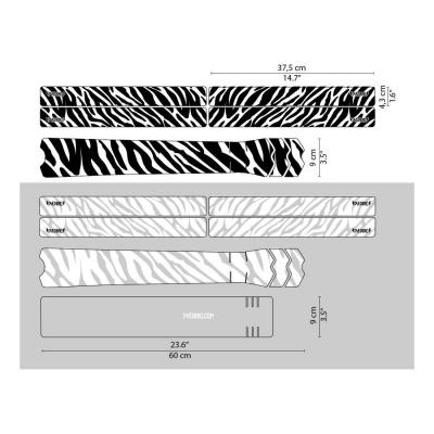 Sticker de protection de cadre Dyedbro Zebra Noir