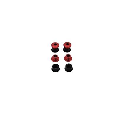 Vis cheminée Gamut 10,5 mm Vis rouge / cheminée noire (Set de 4)