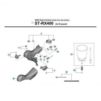 Vis Connexion Durite Shimano SM-BH90 ST-RX400