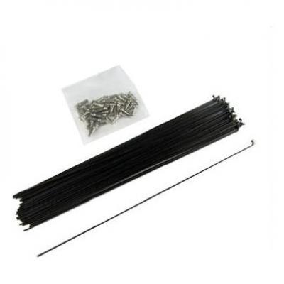 Rayon inox noir 2 mm longueur 256 mm avec écrou