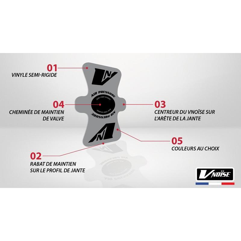 Protection de valve Vnoïse adhésif (x6) Noir mat - 1