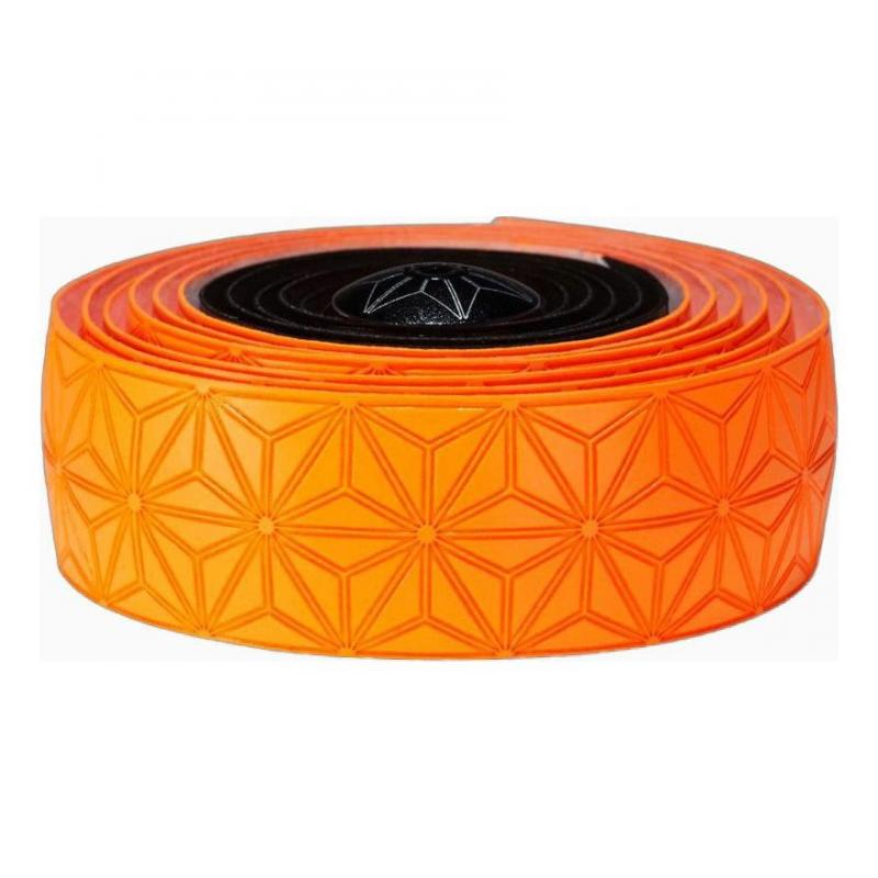 Ruban de cintre Supacaz Super Sticky Kush Tape Orange Fluo/Noir