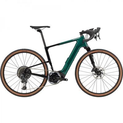 Vélo de gravel électrique Cannondale Topstone Neo Carbon Lefty 1 AXS Émeraude 2021