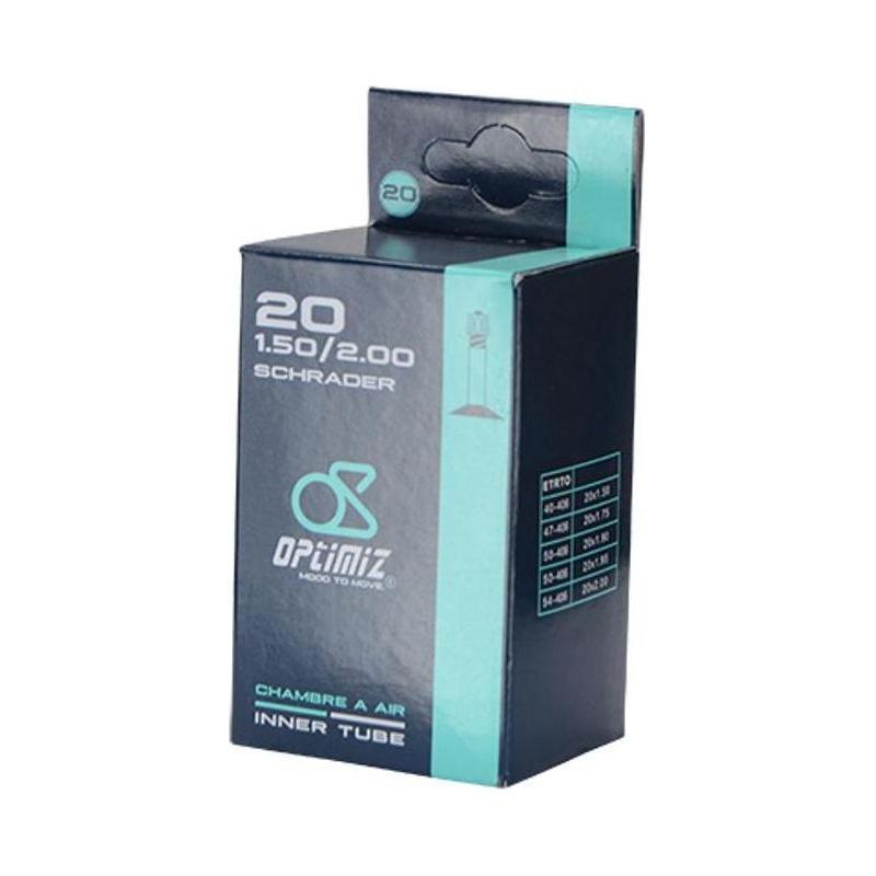 Chambre à air Optimiz 20 x 1.5/2.00 Schrader 40 mm