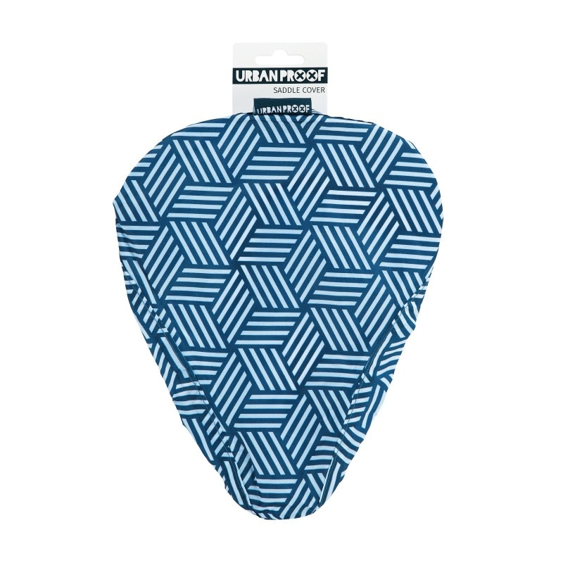Couvre-selle Urban Proof imperméable Rayure Bleu/Blanc