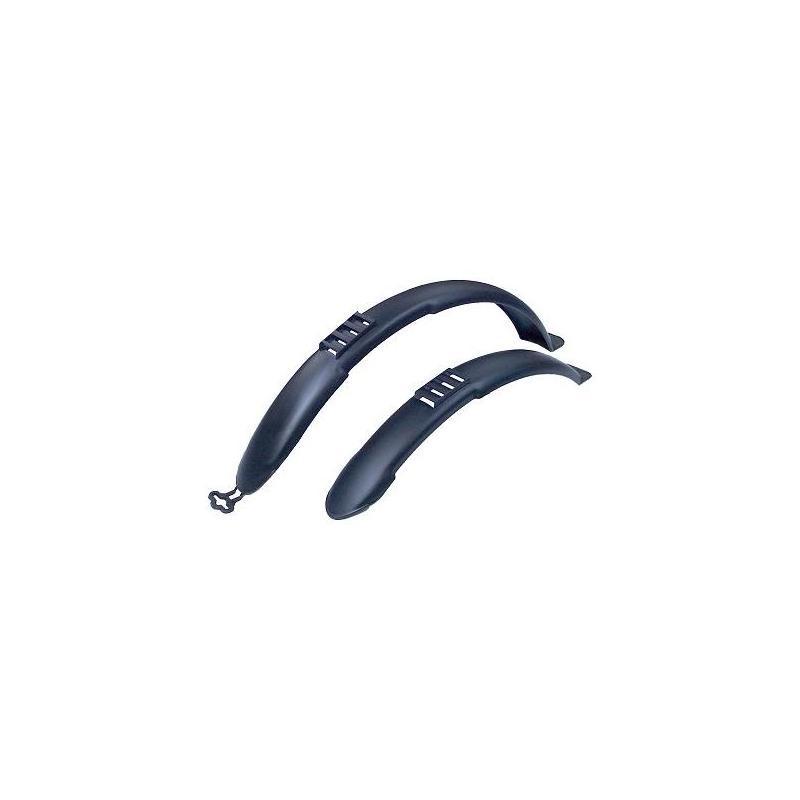 Garde-boue AV + AR clips 20'' Noir