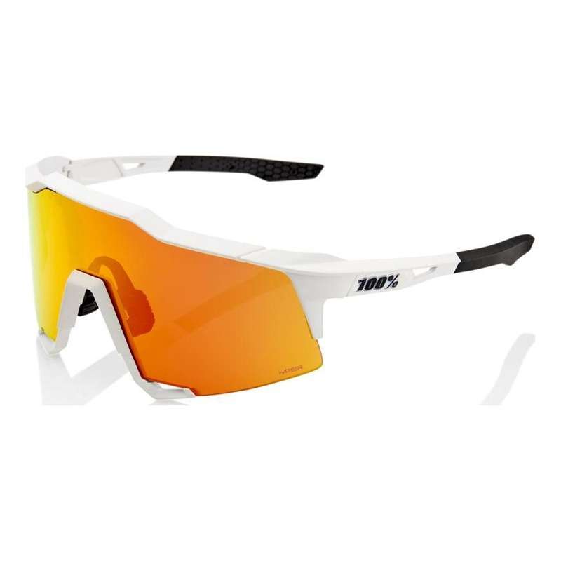 Lunettes 100% Speedcraft HiPER Red Multilayer Mirror Lens Off White