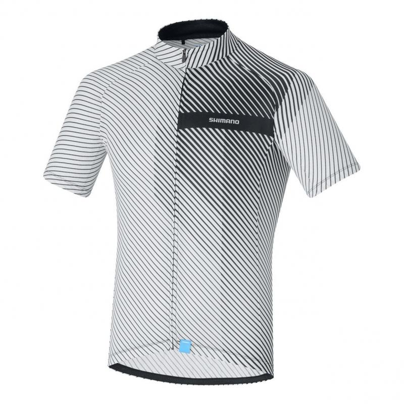 Maillot Shimano Climbers Manches courtes Blanc