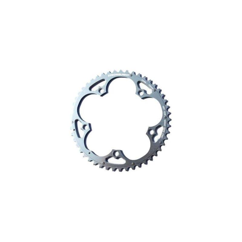 Plateau Stronglight BCD135 44 dents comp. Campagnolo Argent