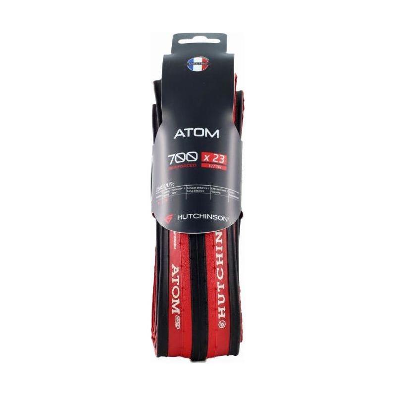 Pneu Hutchinson Atom 700x23 TT Reinforced TS Noir/Rouge