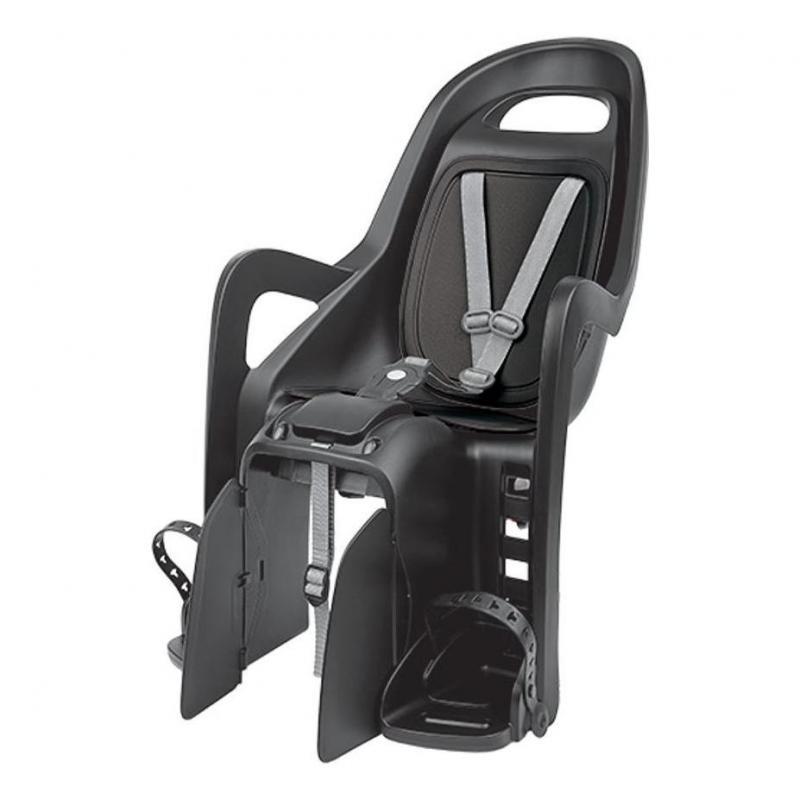 Porte-bébé arrière Polisport Groovy RS Plus sur cadre Inclinable Noir/Gris