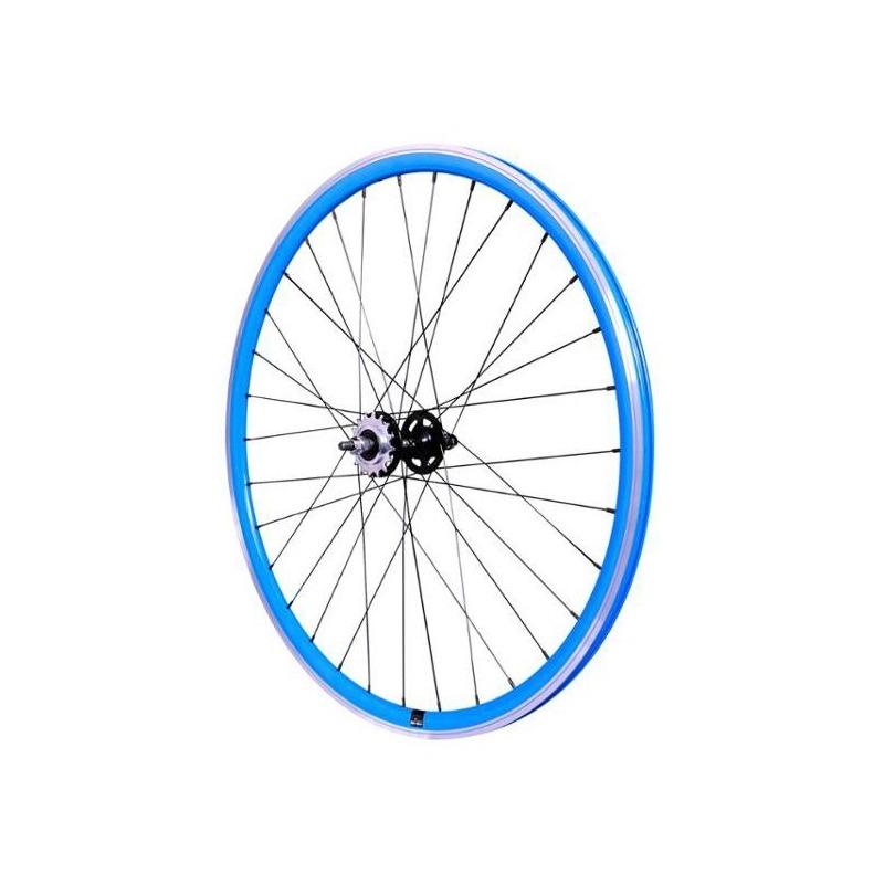 Roue fixie arrière 700 Velox 030C flip/flop hauteur 28 mm Bleu