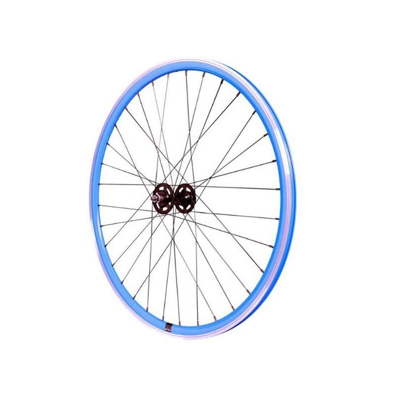 Roue fixie avant 700 Velox 030C hauteur 28 mm Bleu