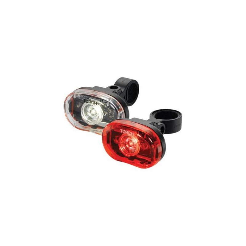 Set d'éclairage AV+AR Torch White Bright 0,5W + Tail Bright 0,5W