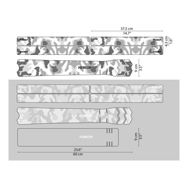 Sticker de protection de cadre Dyedbro Camo Blanc