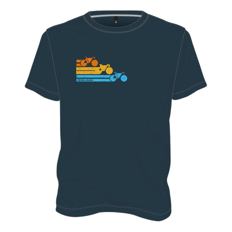 Tee-shirt Pearl Izumi Marine Bike Strip Bleu