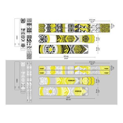 Sticker de protection de cadre Dyedbro Mandala Noir/Jaune