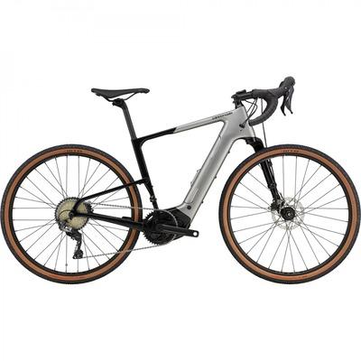 Vélo de gravel électrique Cannondale Topstone Neo Carbon Lefty 3 GRX Gris 2021