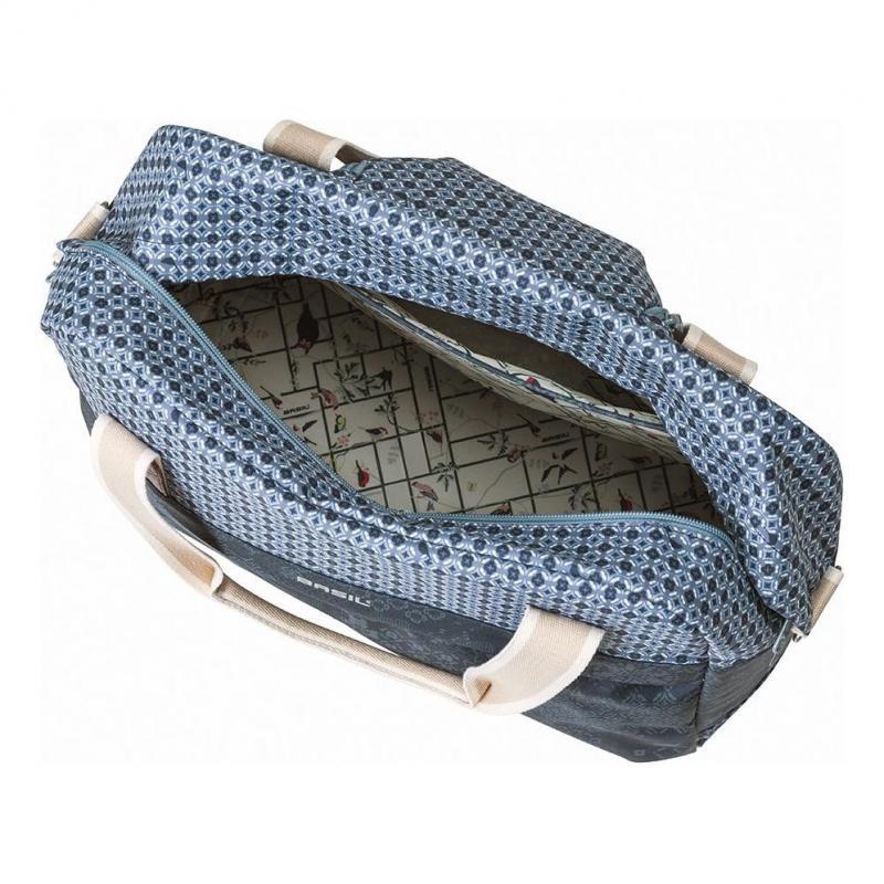 Sac vélo BASIL Boheme Fix. rapide Hook-On sur porte-bagages 18 L Bleu Indigo - 4