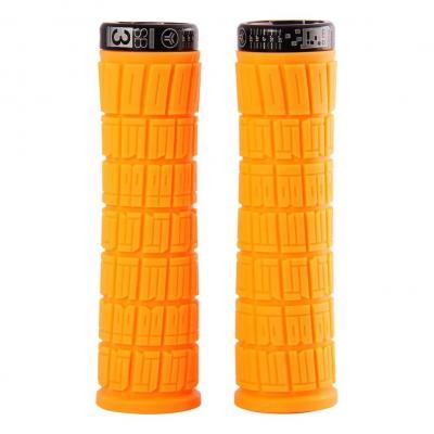 Poignées Grips SB3 Flowy Am Lock On L.130 mm Néon Orange/Noir