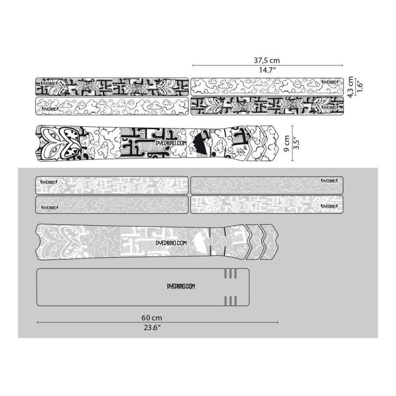 Sticker de protection de cadre Dyedbro Aotearoa Blanc