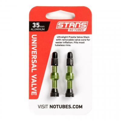 Paire de valves tubeless Stan's NoTubes Aluminium Presta 35 mm Vert