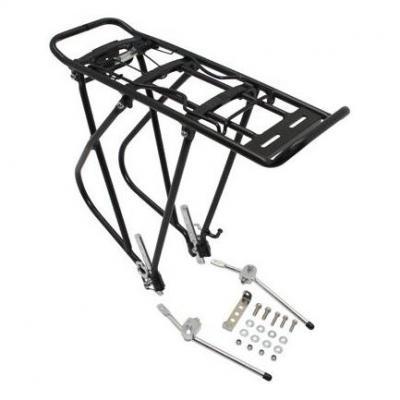 """Porte-bagage arrière à tringles Aluminium pour 24""""-26""""-28"""" pour cyclotouriste Noir"""
