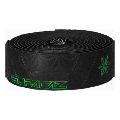 Ruban de cintre Supacaz Super Sticky Kush Tape Noir/Imprimé Vert Fluo