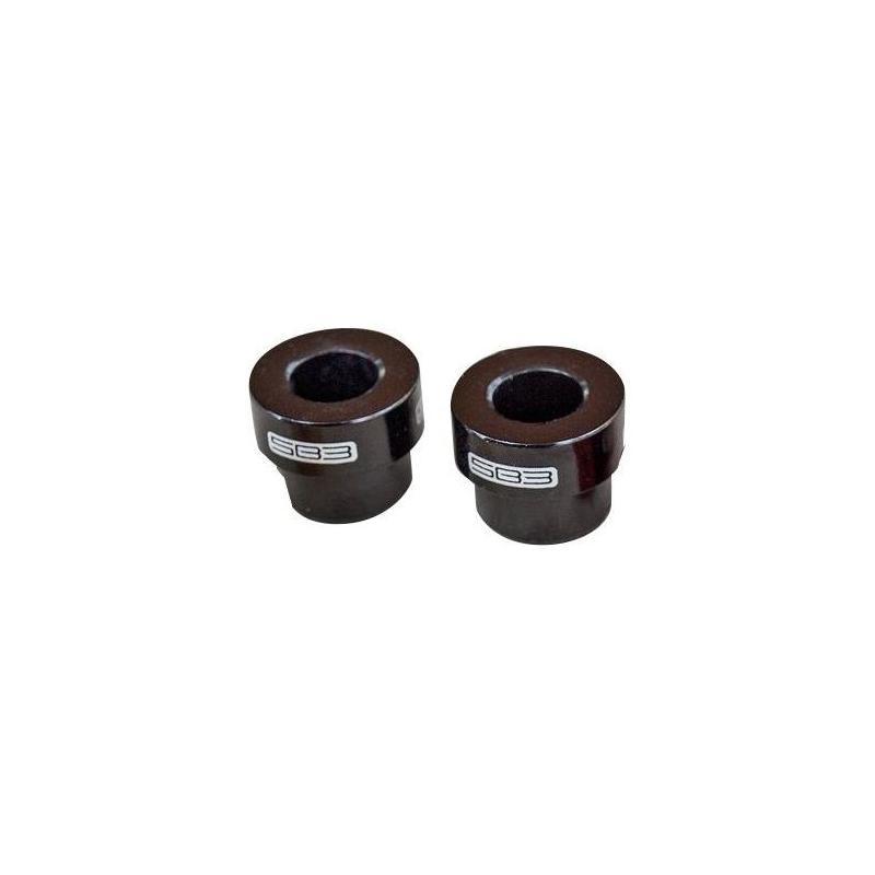 Entretoises d'amortisseur SB3 38 x 8 mm (Paire) Noir