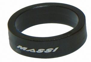 """Entretoise de direction Massi 10 mm 1.1/8"""" (x2) Noir"""