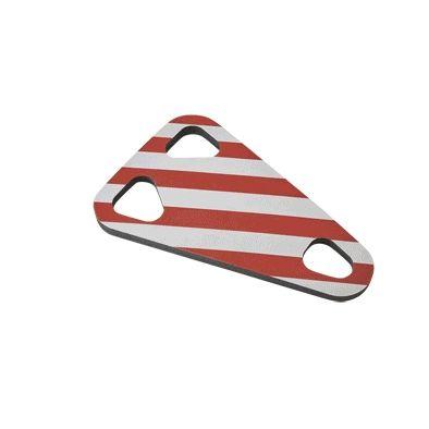 Mousse de protection Mottez pour porte-vélos Rouge/Blanc