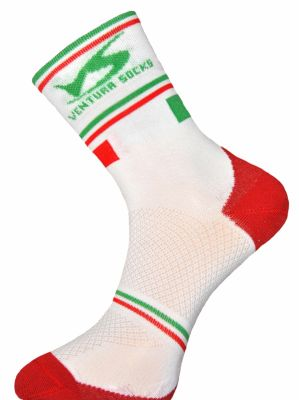 Chaussettes Ventura Socks Carbone Nation Italie Blanc