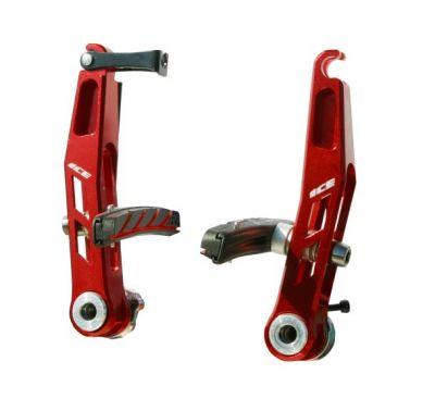 Étriers de frein V-brake Ice Jaw alu CNC Rouge