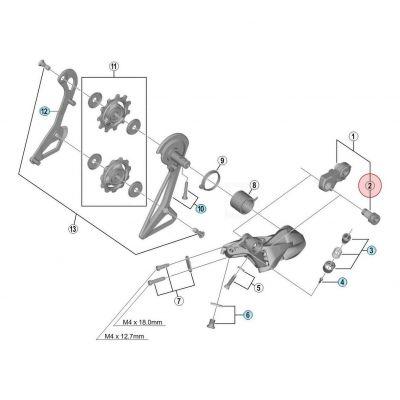 Axe D'Assemblage Direct Mount pour dérailleur Shimano Dura-Ace R9100 RD-R9100