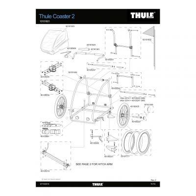 Système de verrouillage automatique droit Thule - 40105236