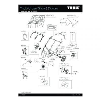 Pièce de rechange Thule Urban Glide Double - 40107028