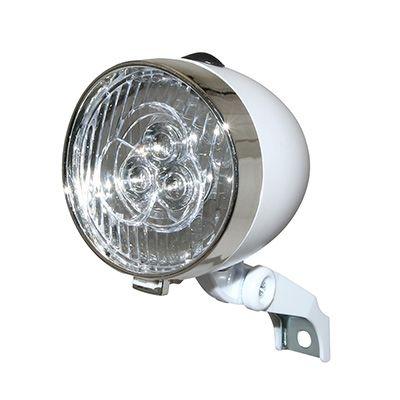 Éclairage AV Rétro LED Sur fourche À piles Blanc
